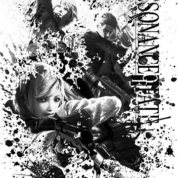 Resonance of Fate Black and White Design (End of Eternity) - Zephyr, Vashyron, Leanne by AngeliaLucis