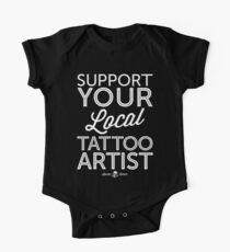 Body de manga corta para bebé Apoya a tu artista del tatuaje local