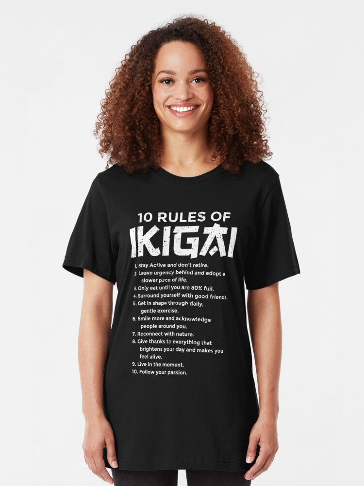 The Ten Rules of Ikigai Life Meaning Purpose | Slim Fit T-Shirt