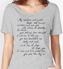 Camiseta ancha para mujer Orgullo y prejuicio, Darcy (negro) Cita