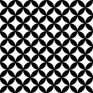 Black and White Circle retro Minimal Pattern by koovox