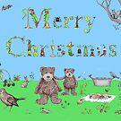 Teddy Bear Christmas card by Dean Harkness
