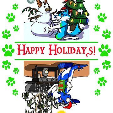 Happy Holidays w Stormi & Pocari! by Adezu