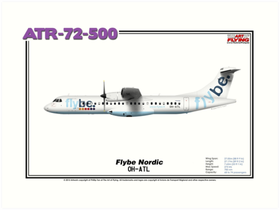 ATR 72-500 - Flybe Nordic (Art Print) by TheArtofFlying