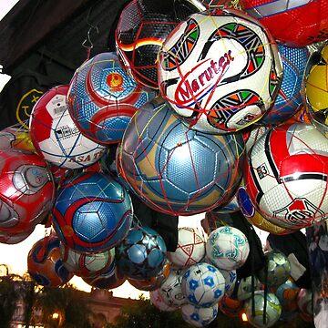 Soccer Balls At Sunset - Argentina by BellaKentuky