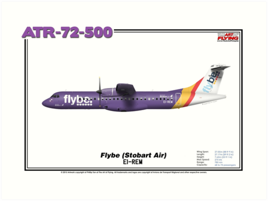 ATR 72-500 - Flybe (Stobart Air) (Art Print) by TheArtofFlying