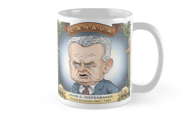 John Diefenbaker, Prime Minister of Canada 1957-1963 by MacKaycartoons