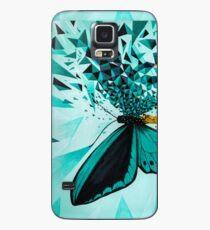 Explosión geométrica mariposa verde Funda/vinilo para Samsung Galaxy