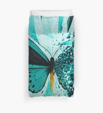 Explosión geométrica mariposa verde Funda nórdica