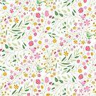 « Motif liberty Oiseaux & fleurs » par Aurélie DEVE