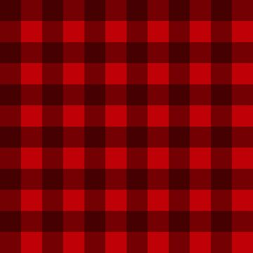 Buffalo Check Plaid Christmas Pattern by YLGraphics