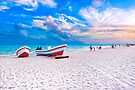 Colorful Boats Beached On The Caribbean Shores of Playa del Carmen by Mark Tisdale