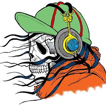 Skull t-shirt mens - Music. Skull apparel, clothing for guys. by AleksanderLamek