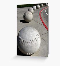 Curve Ball Greeting Card
