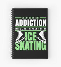 Ice skating Spiral Notebook
