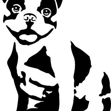 Dog - French Bulldog by claudiasartwork