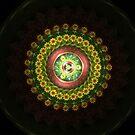 Vintage Floral Mandala by Barbara A Lane