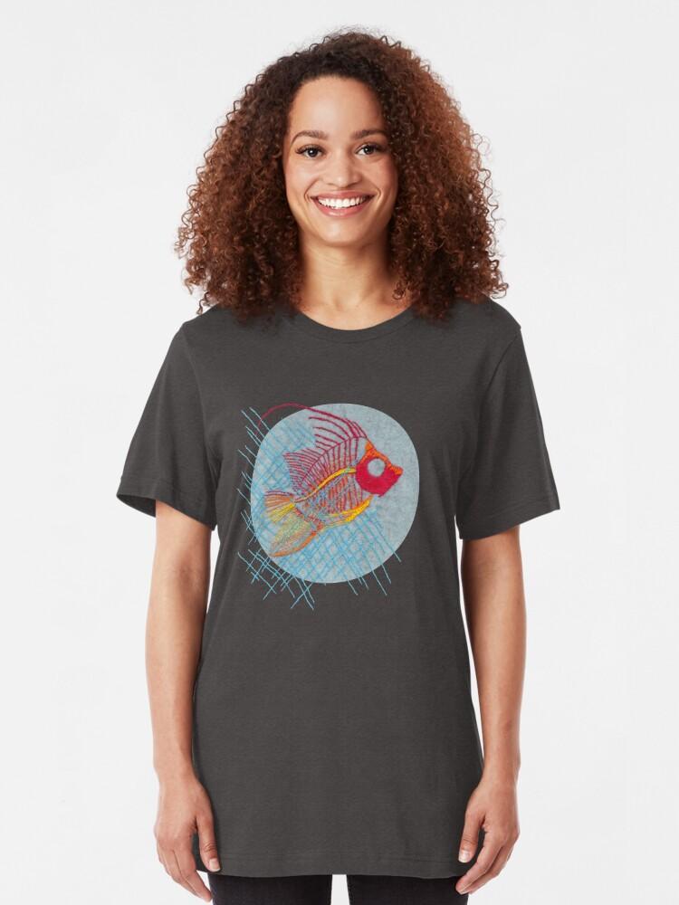 Alternate view of Stitches: Narrow Escape Slim Fit T-Shirt