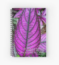 He is their help and their shield..... Spiral Notebook