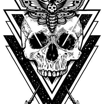 Cool skull t-shirts - Skull in a triangle by AleksanderLamek
