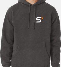 S ^ X Kleines weißes Logo Hoodie