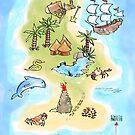 Treasure Island Map by SallyJTaylor