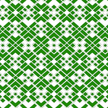 Abstract geometric pattern - green and white. by kerens