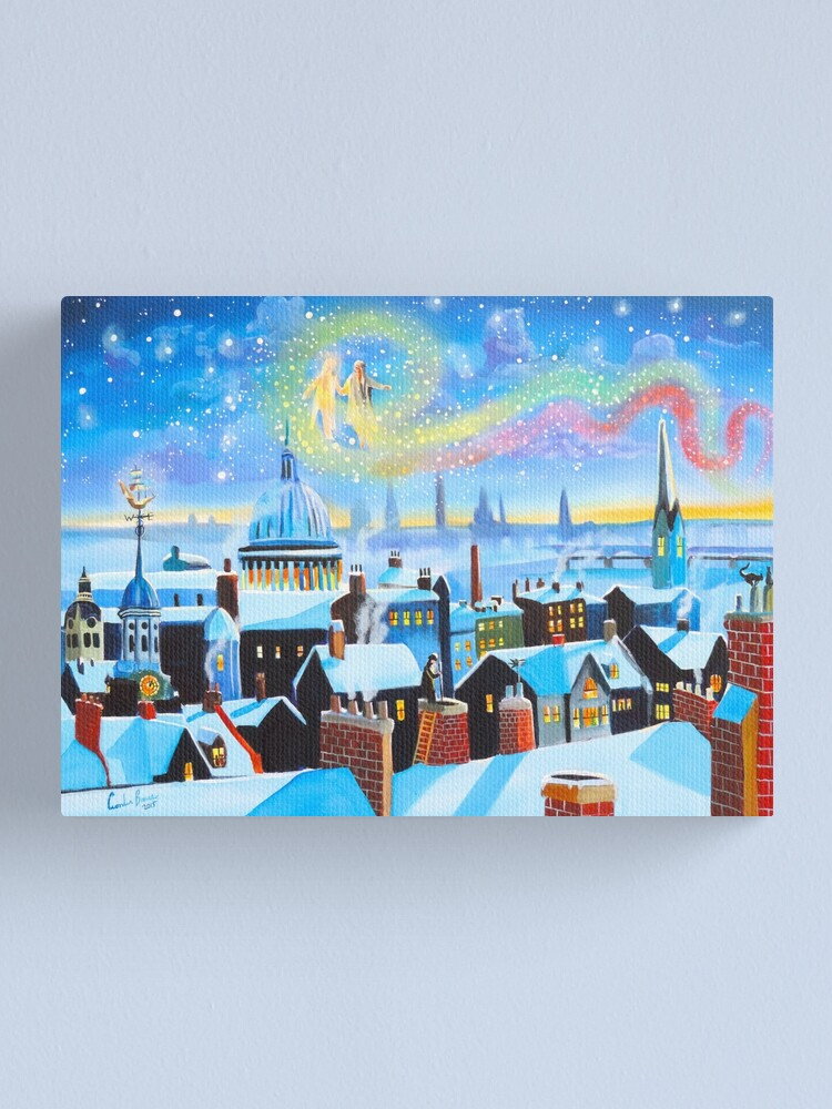 Alternate view of Scrooge a Christmas Carol ghost of Christmas past Canvas Print