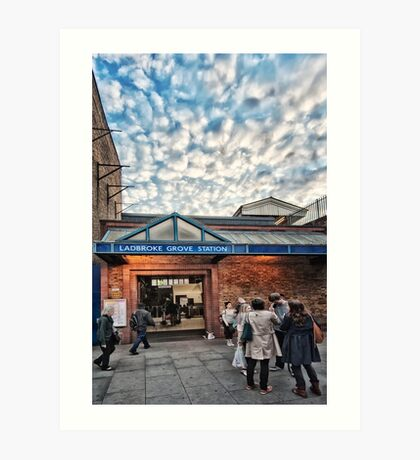 Ladbroke Grove Tube Station Art Print