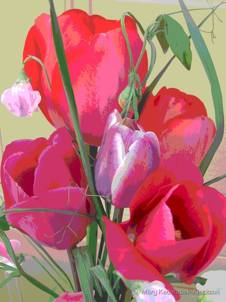 Pink Tulips by Mary Kaderabek-Aleckson