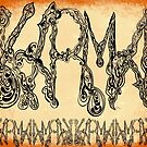 Karma Word Art Orange by Mastiff-Studios