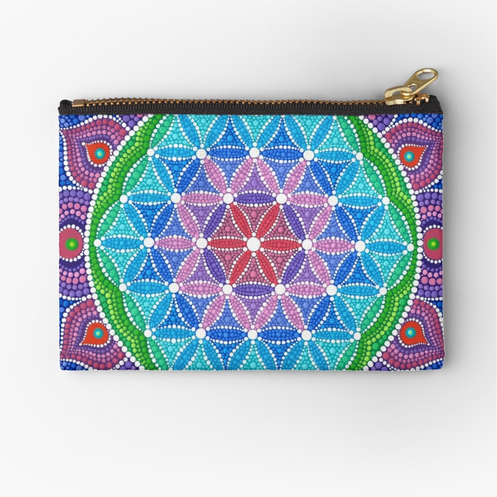 Lotus Flower of Life Zipper Pouch