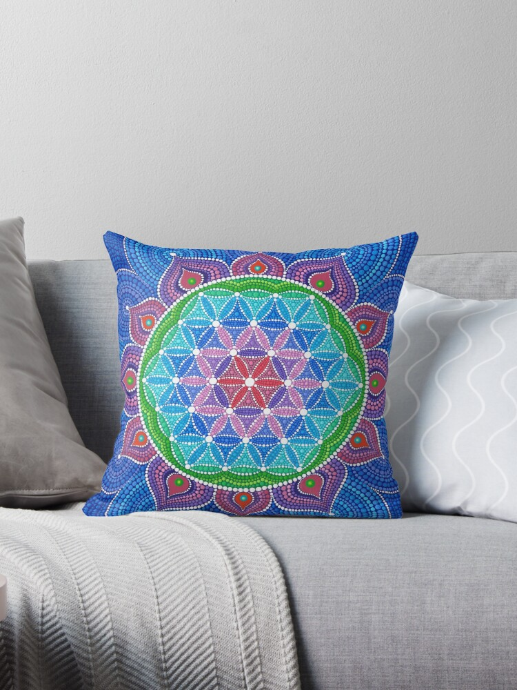 Lotus Flower of Life by Elspeth McLean