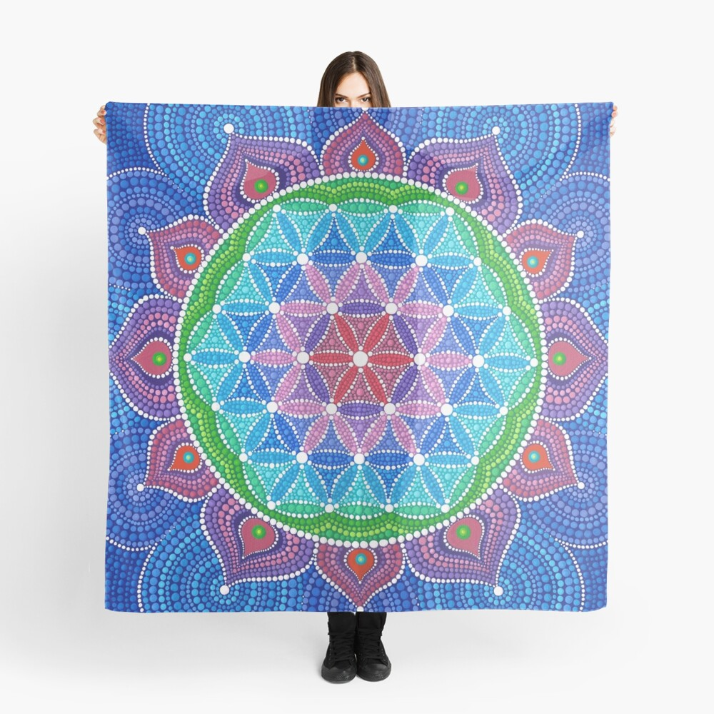 Lotus Flower of Life Scarf