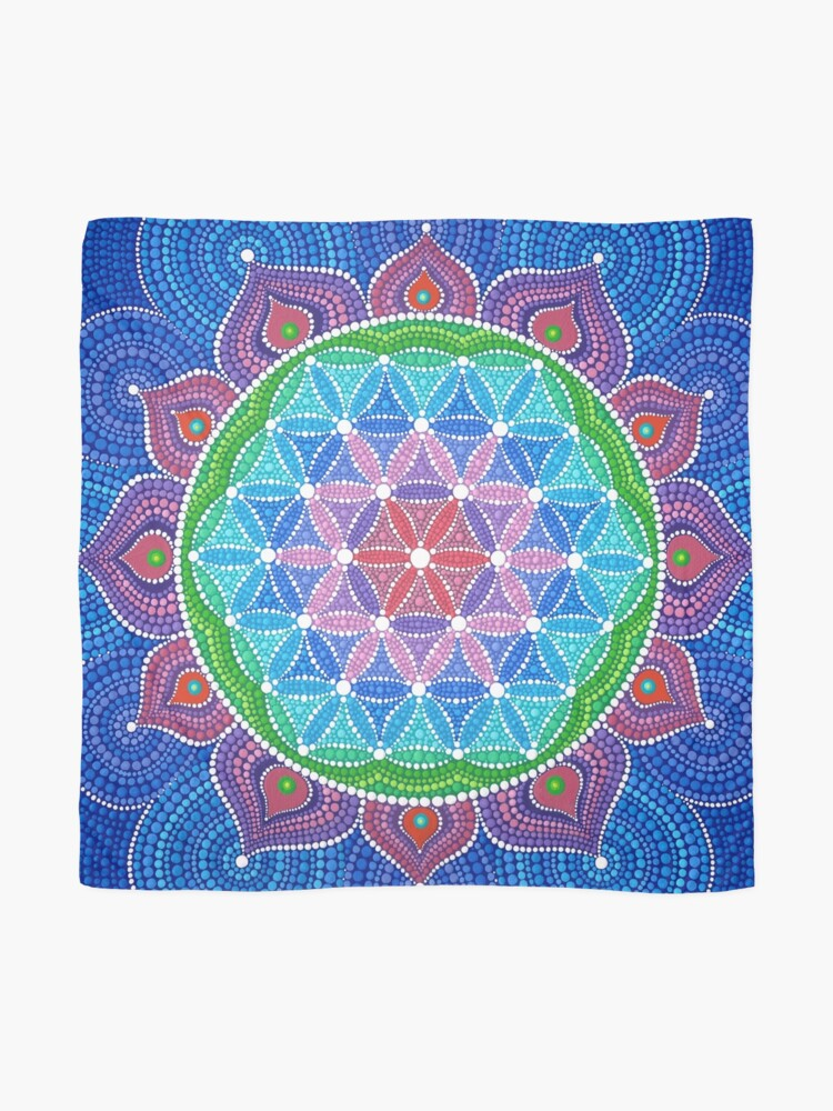 Alternate view of Lotus Flower of Life Scarf
