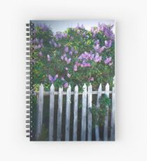 Lilac Fence Spiral Notebook