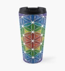 Rainbow Flower of Life Travel Mug