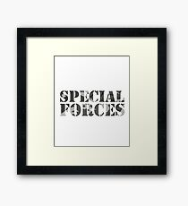 Special Forces Special Forces Elite Military Soldier Bundeswehr Camouflage Gift Framed Print