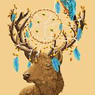 Dreamcatcher Deer by DVerissimo
