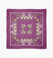 Beryl Green Orchids on Wine Background Square Chiffon Scarf, Pillows, & Totes Scarf