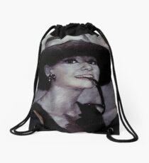 Audrey Hepburn Drawstring Bag
