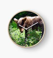 Bear Cub Behind the Tree Clock