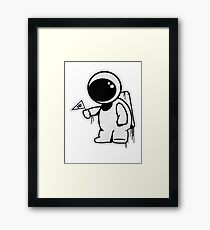 Lonely Astronaut Framed Print