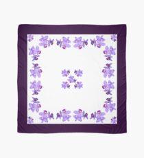 Dark Lavender Purple Orchids Square Chiffon Scarf Scarf