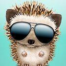 Baby Hedgehog Wearing Sunglasses by jeff bartels