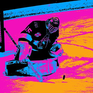 And the Puck Stops Here! - Ice Hockey Goalie by NaturePrints