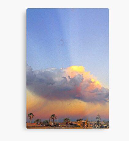 Rain Cloud Over Fremantle  Metal Print