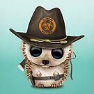 Cute Zombie Hunter Hedgehog by jeff bartels