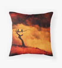 Raven Tree Throw Pillow