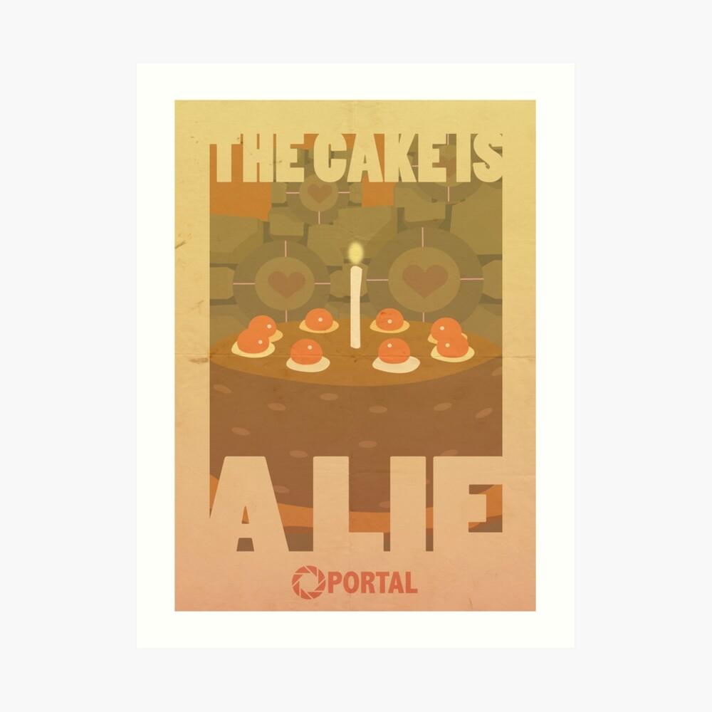 Portal Propaganda Poster - Kuchen Kunstdruck